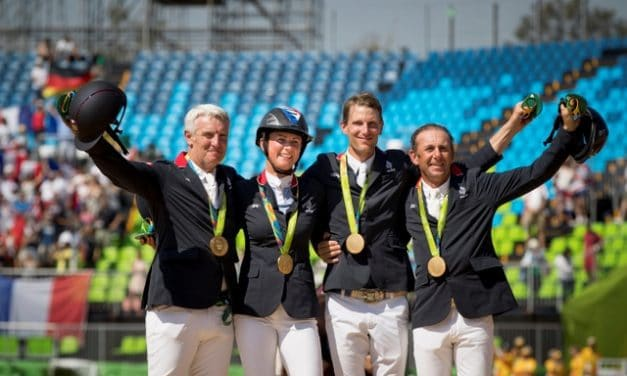 Fighting French Fly to Victory in Olympic Team Jumping Final