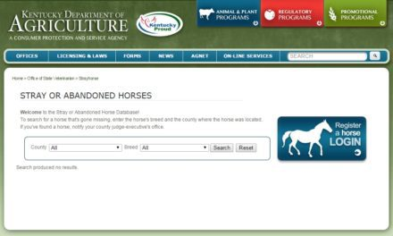 New Kentucky Database Lists Lost, Abandoned Horses