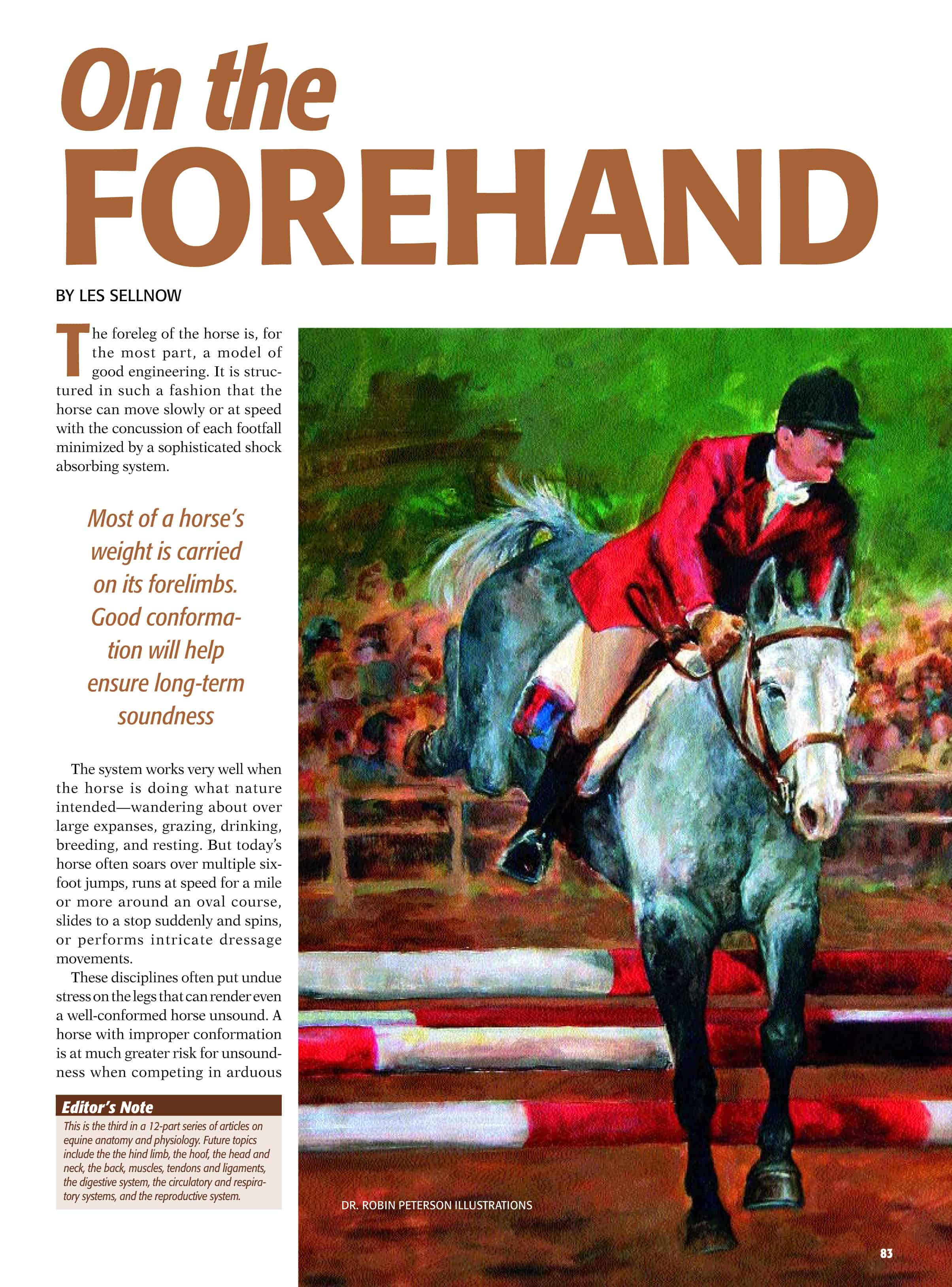 The Foreleg of the Horse: On The Forehand – The Horse