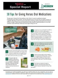 10 Tips for Giving Horses Oral Medications