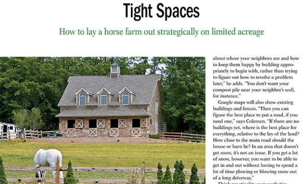 Tight Spaces: Horse Farm Design for Limited Acreage