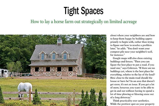 Tight Spaces Horse Farm Design For Limited Acreage The Horse